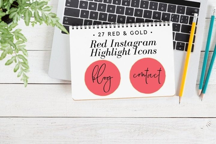 27 Handwritten Cover Set, Instagram Story Highlight,