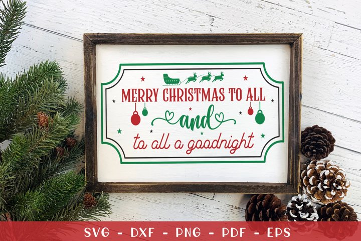 Christmas SVG, Christmas Farmhouse Sign SVG, Christmas Sign