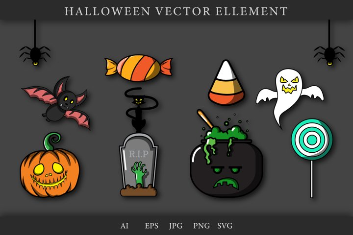 Halloween Bundle, Candy , Ghost, Pumkins, Black Cat, bat,etc