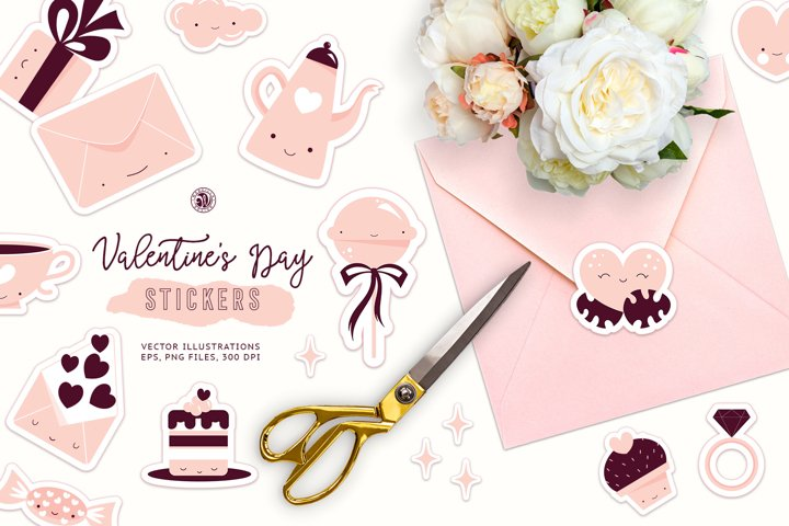 Cute Valentines Day Stickers