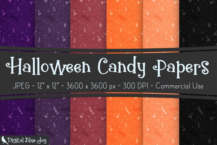 Digital Scrapbook Paper Backgrounds - Halloween Candy