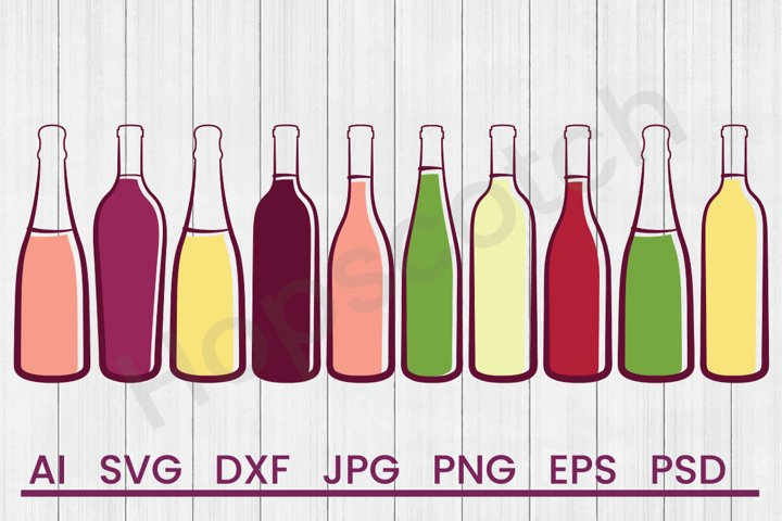 Liquor Bottles SVG, DXF File, Cuttatable File