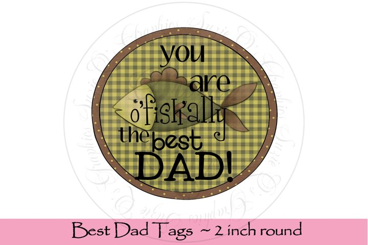 Best Dad Tags, round