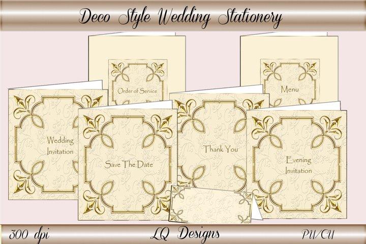 Deco Style Wedding Stationery