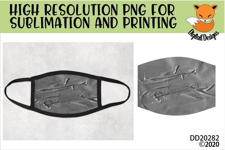 Duct Tape Sublimation Design For Face Masks