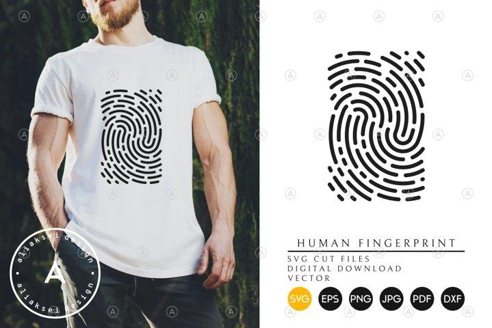 Human Fingerprint SVG