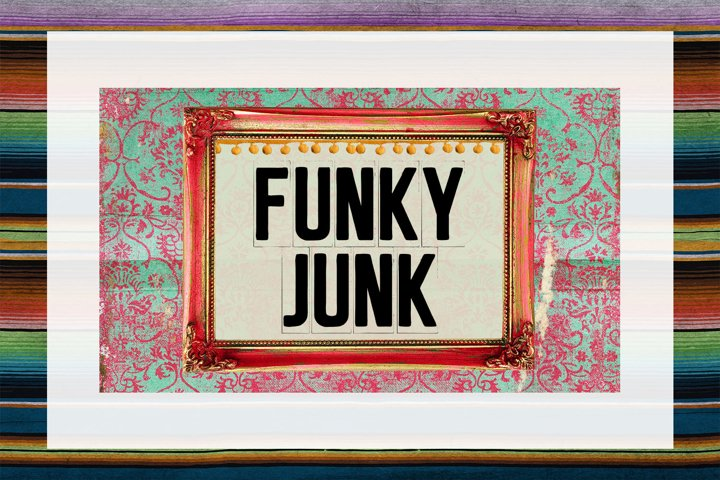 Funky Junk Business Card Digital Download