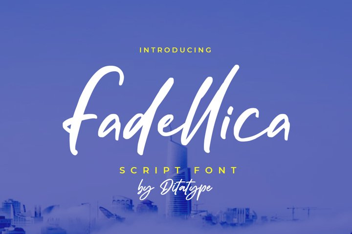 Fadellica-Handwritten Font