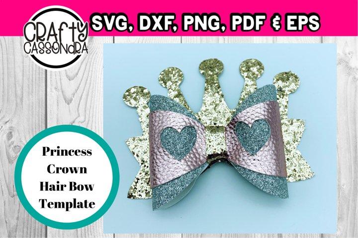 Hair bow - Princess crown hair bow svg file - diy hair bows