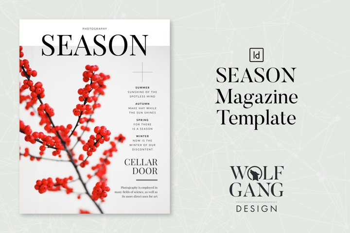 SEASON Photography Magazine Template