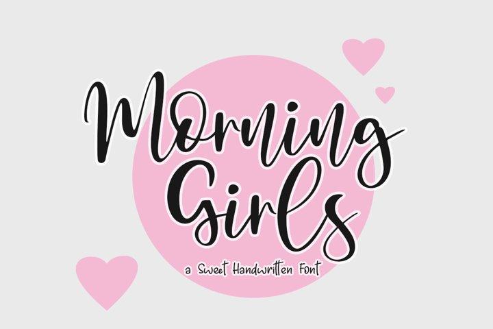 Morning Girls Handwritten Script Font