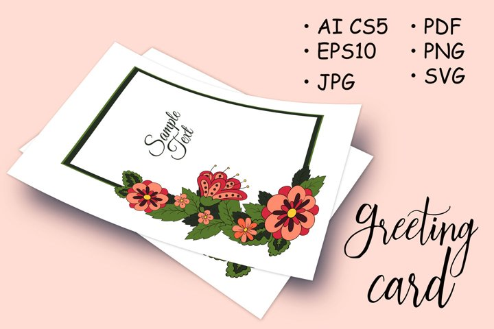 Floral ornament. Cover, Magazine. Set cards