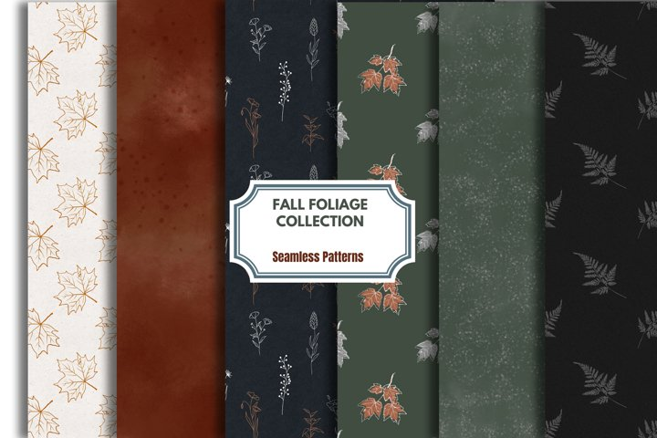 Autumn Digital Paper, Fall Color clipart, Seamless Pattern