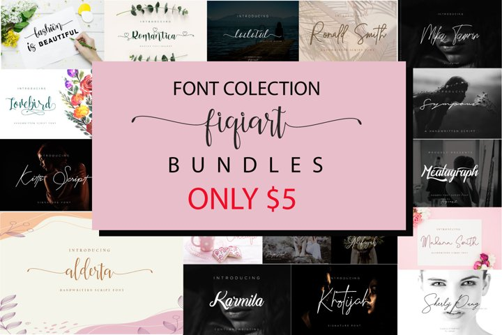 Font Collection Fiqiart is packed with 22 elegant