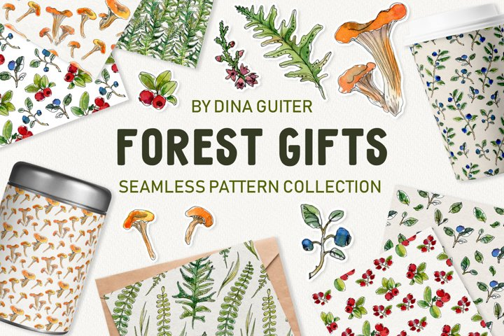 FOREST GIFTS WATERCOLOR PATTERN