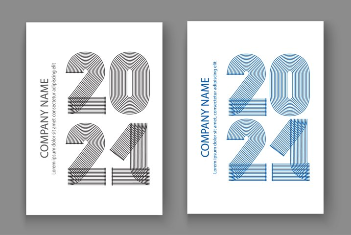 Abstract modern cover design background with 2021 New Year