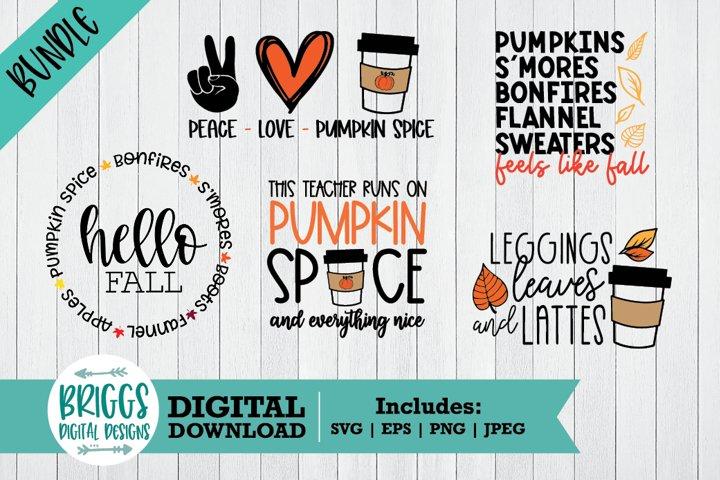 Fall Shirt SVG Bundle | Cut Files for Shirts