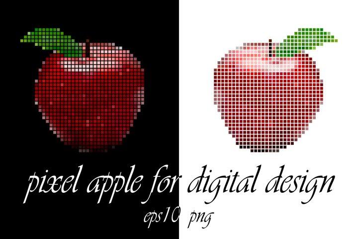 Pixel apple. Digital design