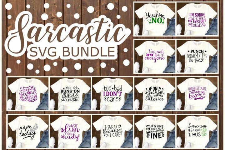 Sarcastic SVG Bundle, Sarcastic Quotes SVG files for Cricut
