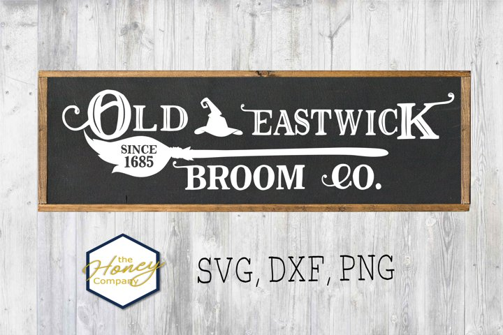Old Eastwick Broom Co, SVG PNG DXF Cutting File Halloween