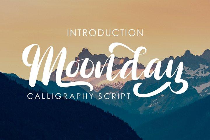 Moonday Calligraphy Font