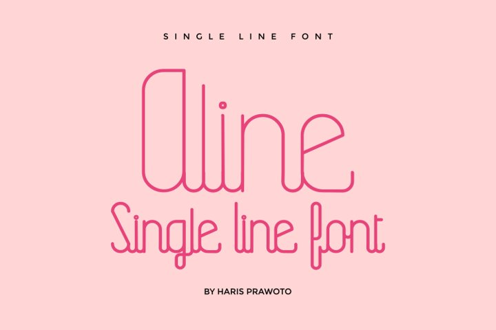 Aline - Single Line - Hair Line Font