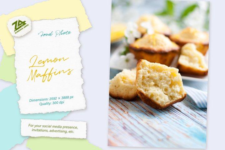 Food photo Lemon muffins - baking details