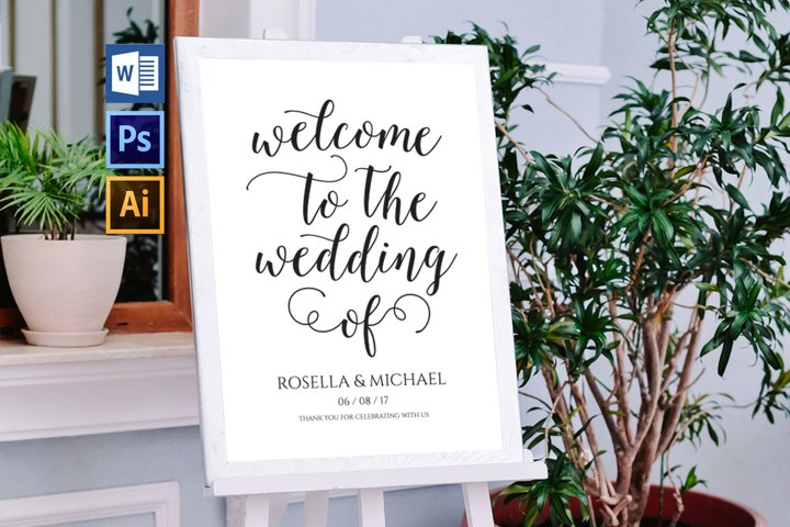 wedding welcome sign, TOS_51