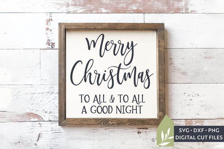 Merry Christmas To All SVG, Christmas Wood Sign SVG