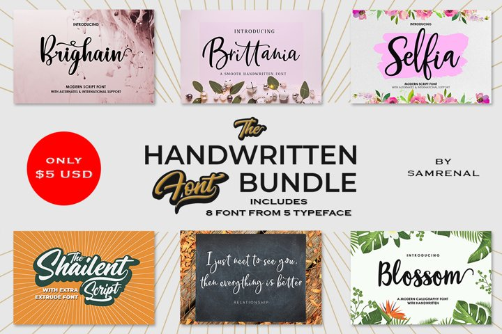 The Handwritten Font Bundle