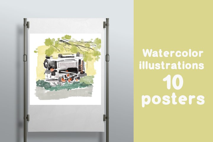 10 Watercolor posters
