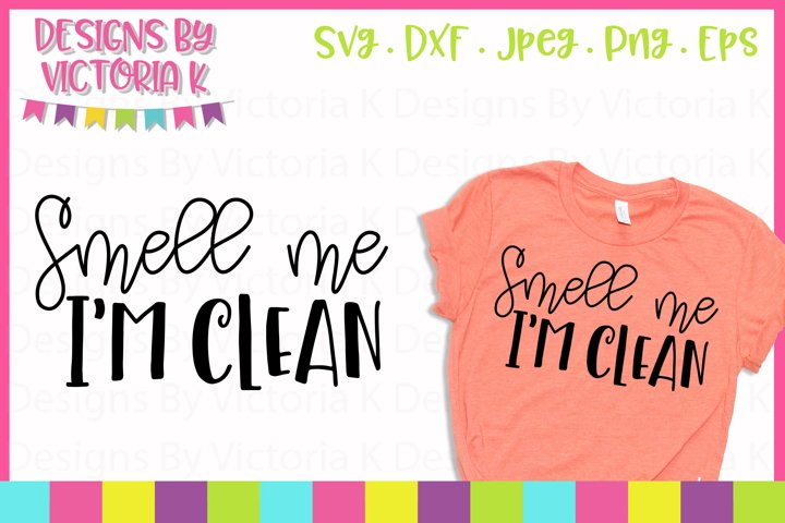 Smell me I'm Clean, SVG, DXF, PNG example