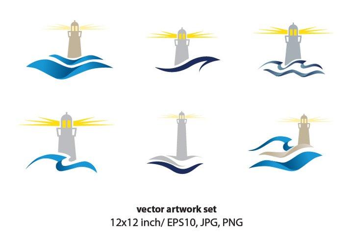 LIGHTHOUSE - VECTOR ARTWORK SET