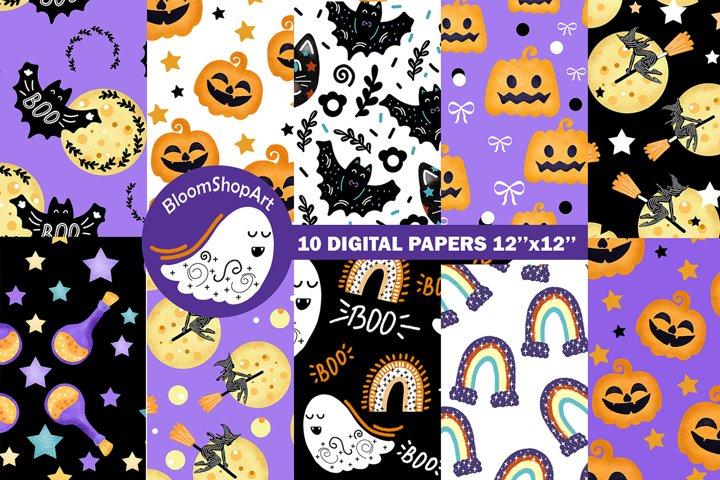 Cute halloween digital paper, digital download halloween