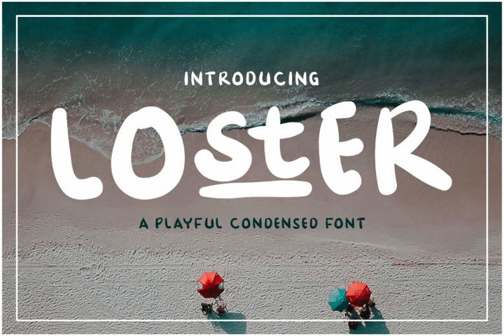 Loster   A Playful Condesed Display Font