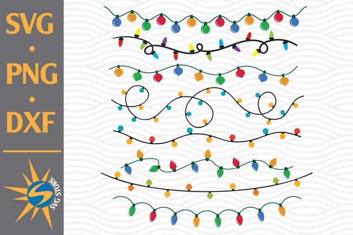 Christmas Light SVG, PNG, DXF Digital Files Include