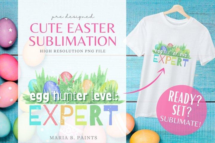 Easter Egg Hunting Design Spring Child Sublimation File