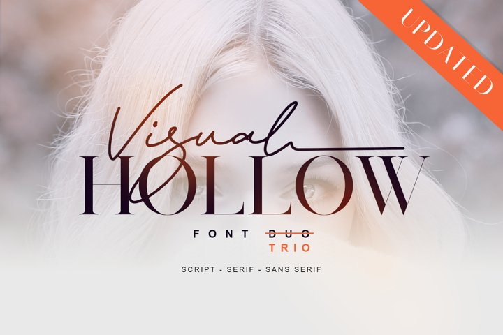 Visual Hollow Font Trio