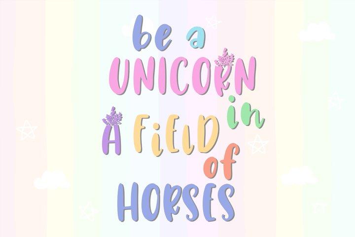 Unicorn Horn Font - Free Font of The Week Design0