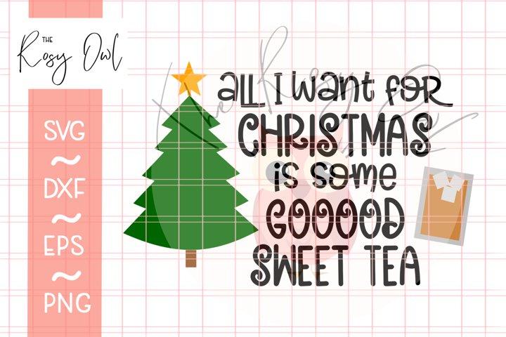 Sweet Tea Christmas SVG   Funny SVG   Southern Christmas SVG