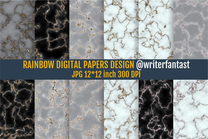 Digital Papers Ultimate Gray Marble