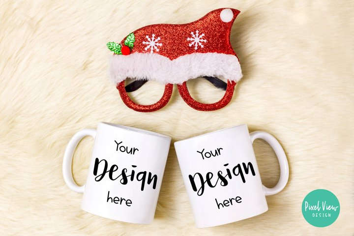 White Couple Coffee Mug Mock-Up | Christmas
