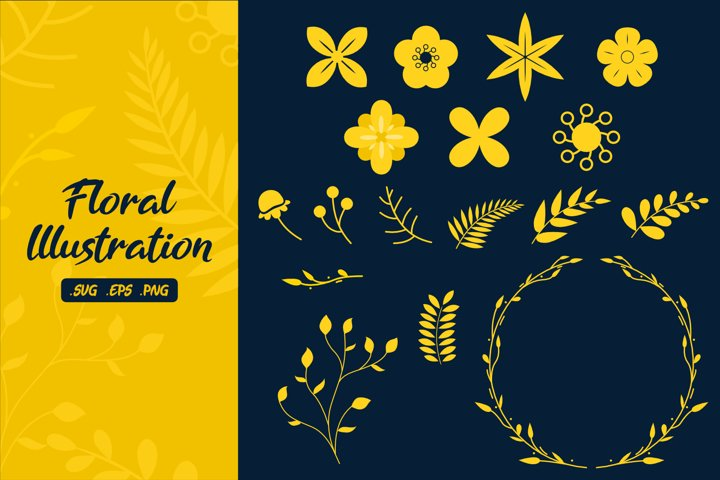 Floral Illustrations - SVG