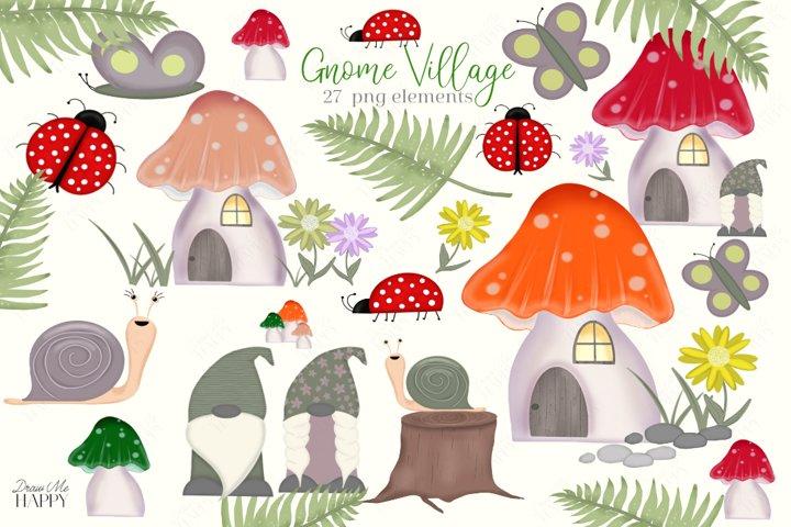 Gnomes, Gnomes Sublimation, Mushroom, Ladybug, Woodland