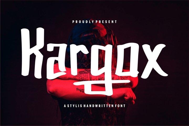 Kargox - A Stylish Handwritten Font