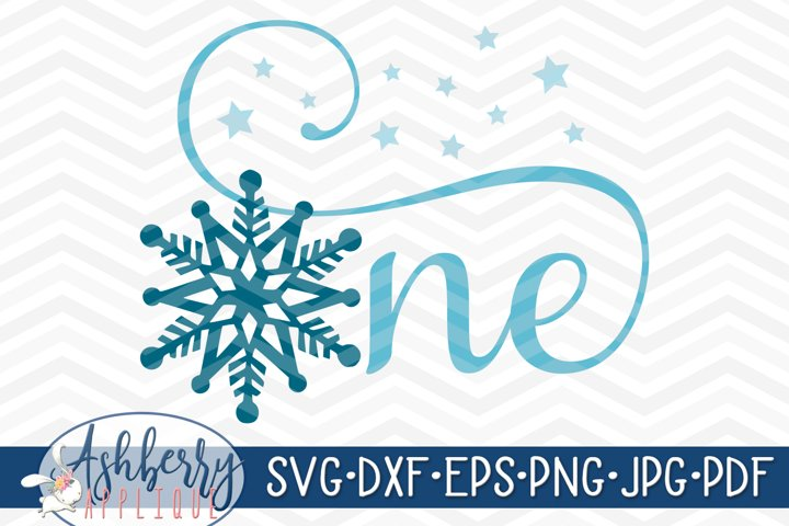 One Snowflake SVG/DXF Cut File