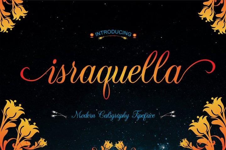Israquella Script - Free Font of The Week Font