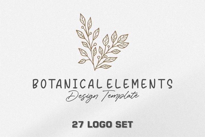 Botanical Elements Design Template .16 logo set