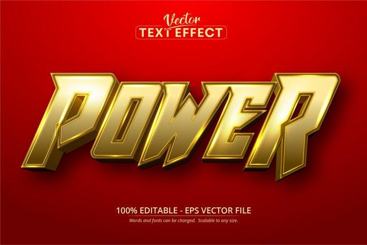 Power text, cartoon style editable text effect