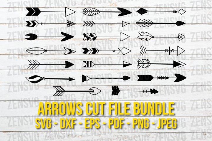 20 Tribal Boho Arrow Cut Files, Hand drawn
